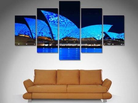 Opera House Lights Split canvas