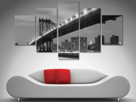 Manhattan Bridge diamond canvas art