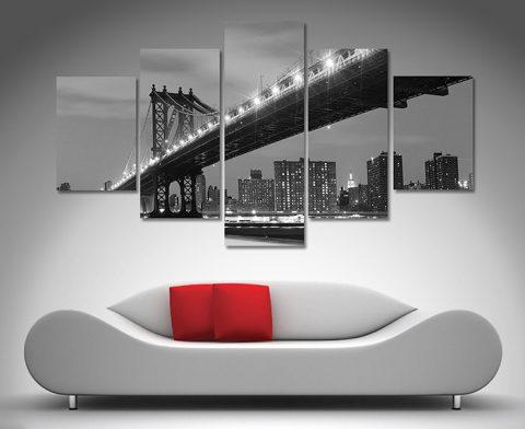 Manhattan Bridge diamond canvas art