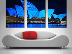Opera House Lights triptych wall art