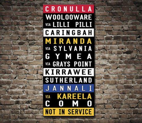 Cronulla Coloured Tram Scroll