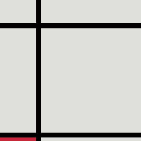 Piet Mondrian Composition with Red Painting Canvas Art Decoration Au