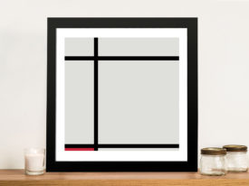 Piet Mondrian Composition with Red Painting Canvas Melbourne
