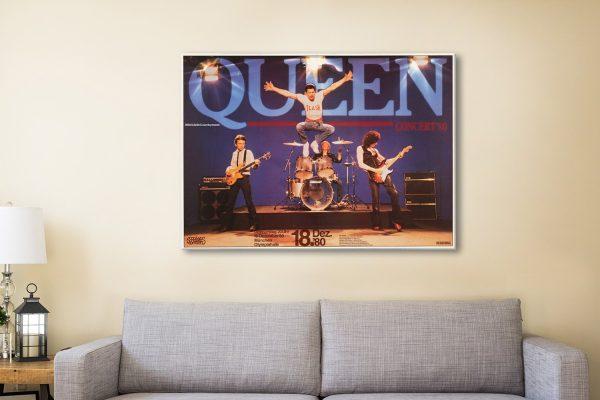 Buy Queen Concert Wall Art Great Gift Ideas AU
