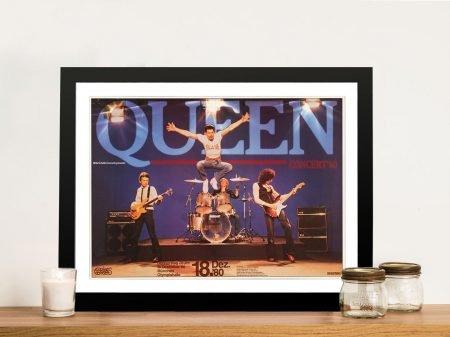 Buy a 1980 Queen Concert Poster Print