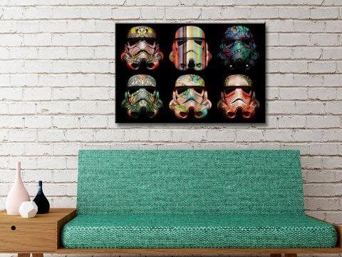 Stormtroopers 6 Helmet Pop Art Canvas Prints