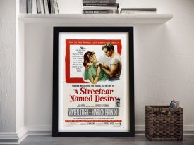 A Streetcar Named Desire Framed Movie Poster Wall Art
