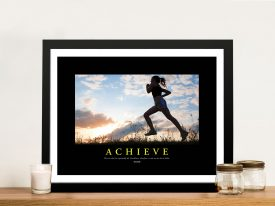 Achieve Inspirational Framed Poster Art