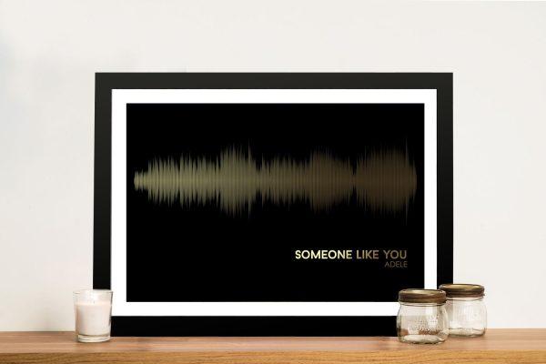 Adele Someone Like you Soundwave Framed Wall Art
