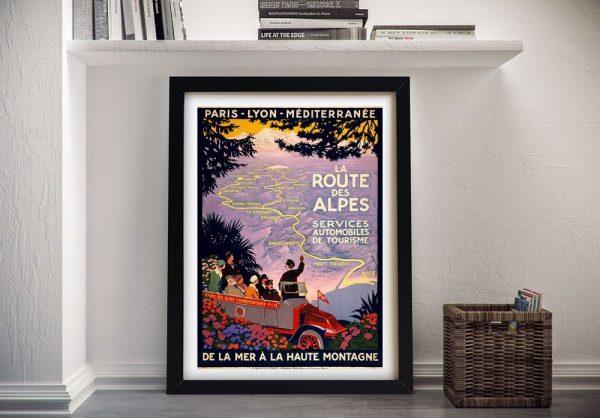 Buy a Framed Vintage Alpes Poster Print