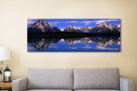 Alpine Lake Canvas Artwork Sydney