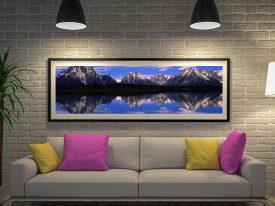 Alpine Lake Panoramic Photo