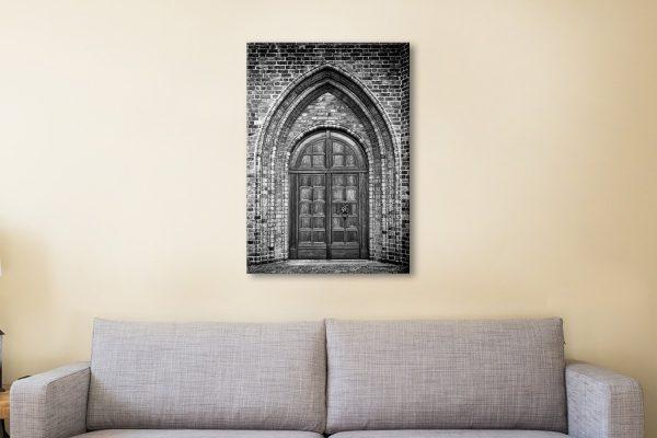 Ancient church doorway Canvas Artwork