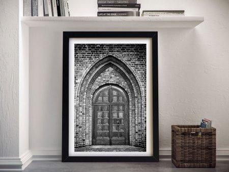 Ancient church doorway Framed Wall Art