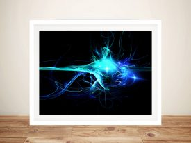 Aqua Clash Framed Digital Wall Art