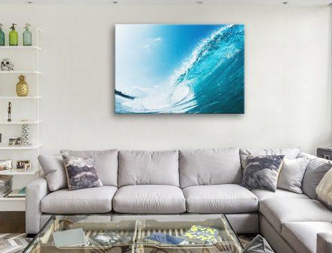 Aqua Barrels Surf Canvas Artwork Australia