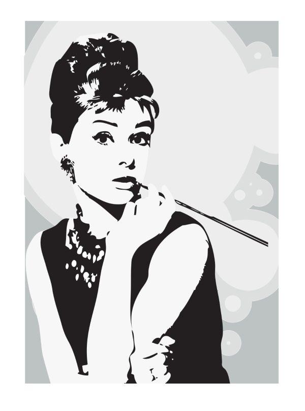 Audrey Hepburn Wall Art Picture Print