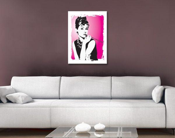 Ready to Hang Audrey Hepburn Pop Art