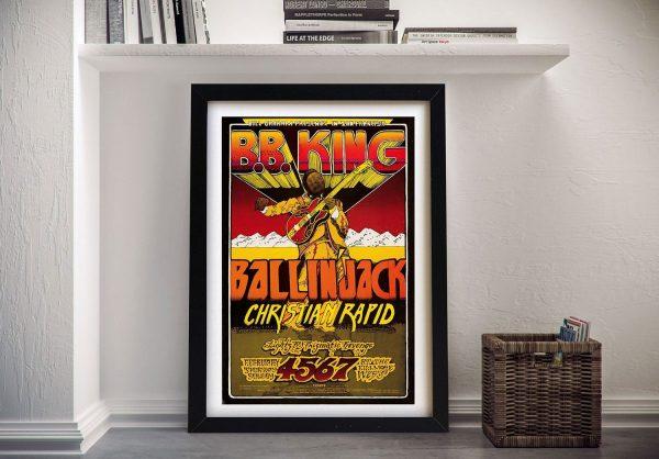Buy a B.B King Framed Concert Poster Print