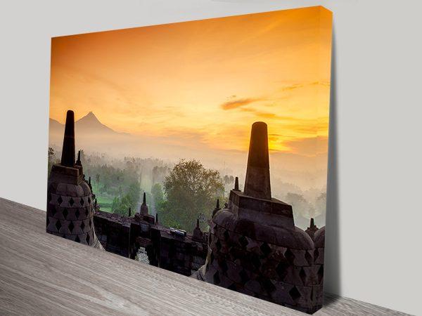 Buy Temple Sunset Wall Art Gift Ideas Online