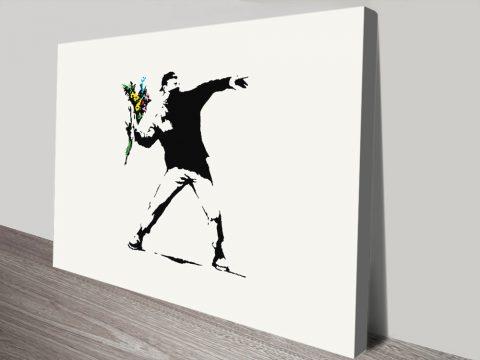banksy flower thrower rage print