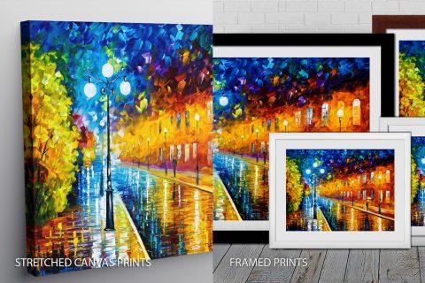 BLUE LIGHTS Quality Art Print