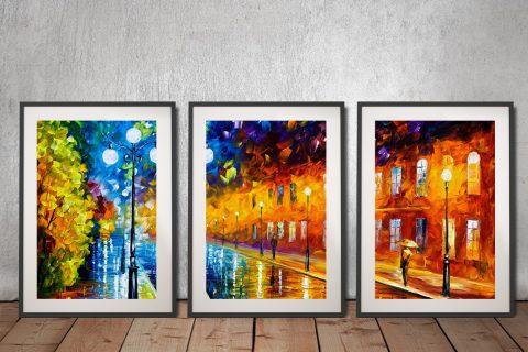 Buy Leonid Afremov 3-Panel Canvas Art Sets AU
