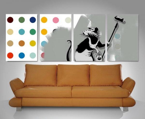 Buy Banksy Split Canvas Prints Gift Ideas AU