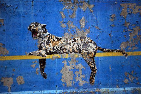 Bronx Zoo by Banksy Canvas print