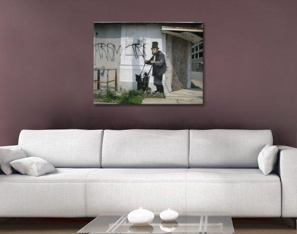 Buy Affordable Banksy Lincoln Prints Online