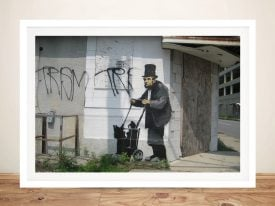 Buy a Framed Banksy Lincoln Graffiti Print