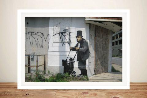 Buy a Framed Banksy Lincoln Graffiti Print