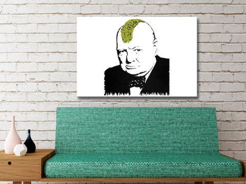 Banksy Art Prints Winston Churchill Turf War Canvas Artwork Online