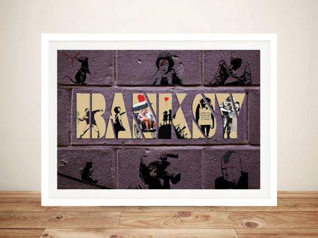Buy Bespoke Banksy Framed Canvas Wall Art