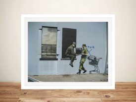Banksy Looters New Orleans Graffiti Floater Frame