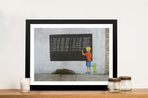 Buy a Banksy Simpsons Framed Canvas Artwork