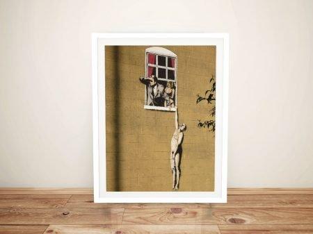 Buy a Framed Banksy Lovers Canvas Print