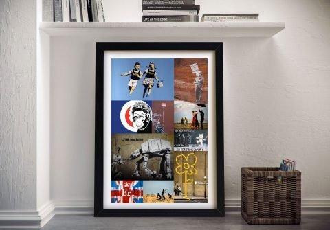 Framed Banksy Montage of Art Gift Ideas AU