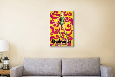 Barbarella Poster Canvas Artwork