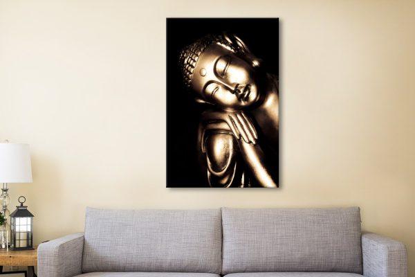 Black and Gold Buddha Canvas Artwork