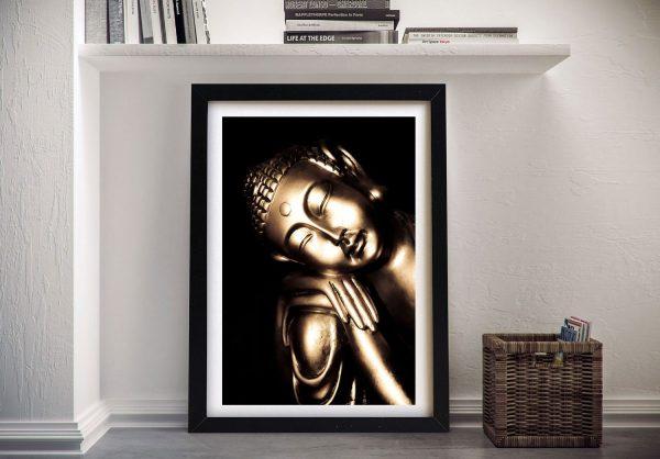 Black and Gold Buddha Framed Wall Art