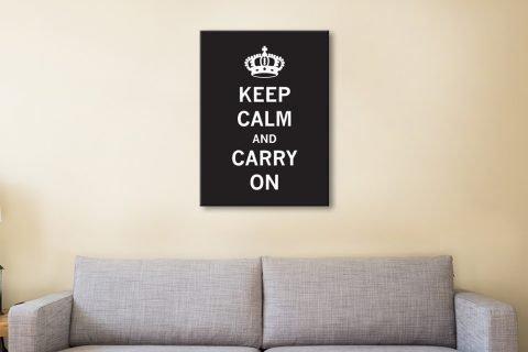 Black & White Keep Calm Print for Sale AU