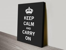 Black & White Keep Calm Poster