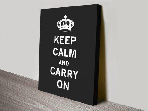 Black & White Keep Calm Poster