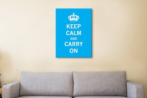 Light Blue Keep Calm Art Great Gift Ideas AU