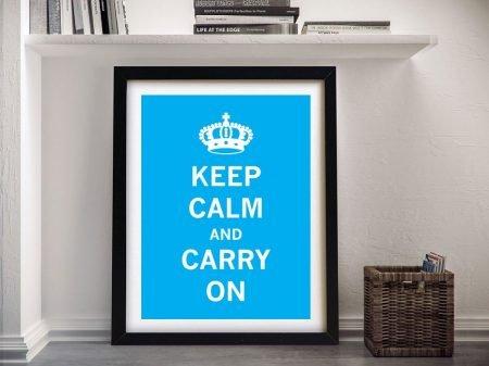 Buy a Framed Blue Keep Calm Poster