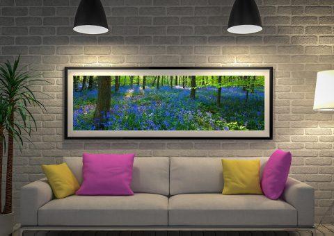 Buy Bluebell Wood Framed Panoramic Art