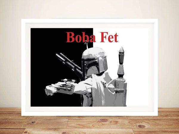 Boba Fett Star Wars Fan Art Framed Picture
