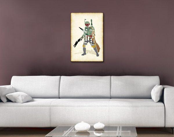 Star Wars Typographic Art Home Decor AU