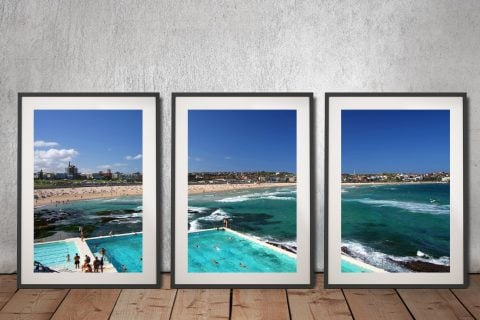 Buy Bondi Icebergs Affordable 3-Panel Art